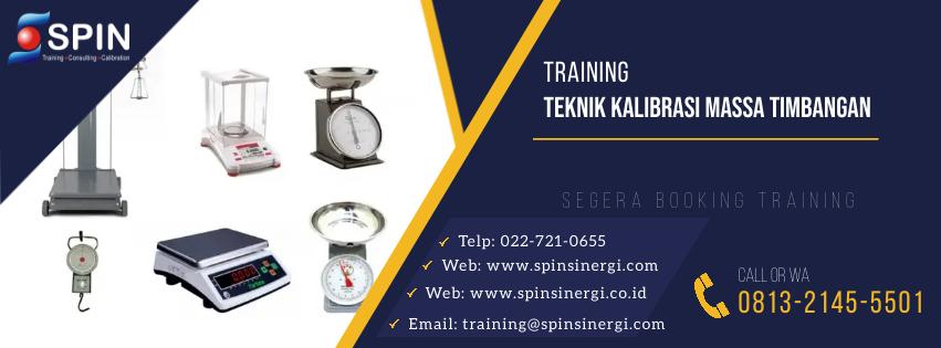 Training Teknik Kalibrasi Massa Timbangan